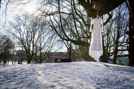 Trouwfotograaf Nijmegen Gelderland sneeuw winter hunner park