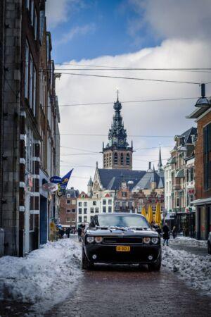 Trouwfotograaf Nijmegen Gelderland sneeuw winter stevenskerk