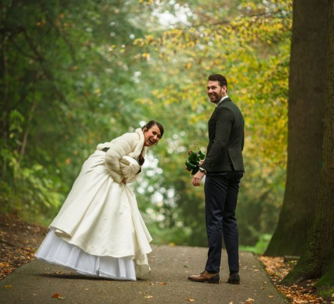 Trouwfotograaf Arnhem Park Sonsbeek bruidsfotograaf Nijmegen Gelderland