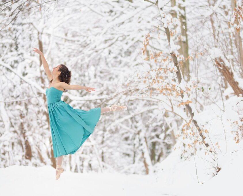 Ballet fotoshoot Nijmegen Plasmolen Sneeuw portretfotograaf Nijmegen