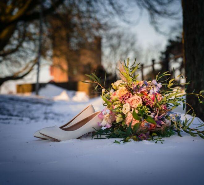 trouwfotografie bruidsfotografie hunnerpark nijmegen sneeuw