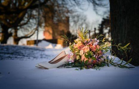 Trouwfotograaf | huwelijksfotograaf Nijmegen in sneeuw