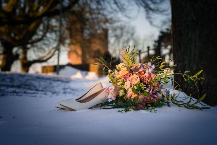 trouwfotograaf bruidsfotograaf hunnerpark nijmegen sneeuw