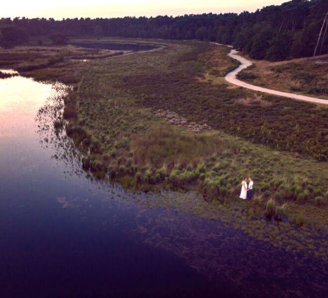 Drone fotografie Nijmegen Zwangerschapsshoot